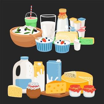Produtos lácteos agrícolas