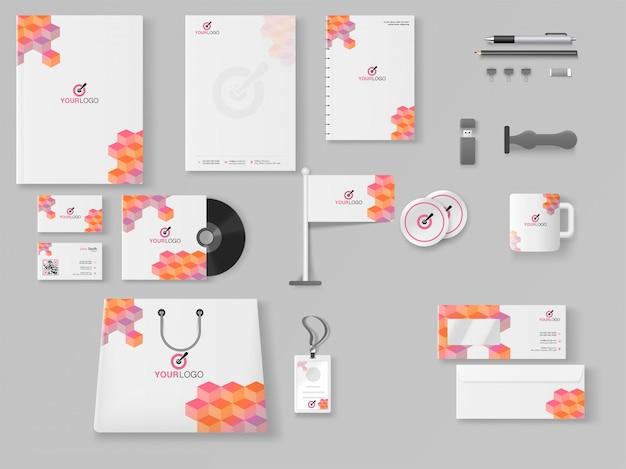 Professional business branding kit, incluindo carta de cabeça