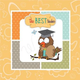 Professor de coruja em formato vetorial