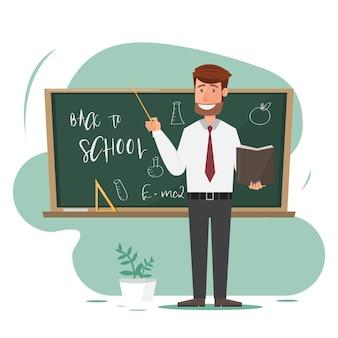 Professor em sala de aula.