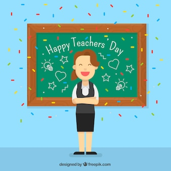 Professor feliz, dia do professor
