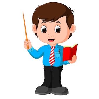 Professor masculino dos desenhos animados