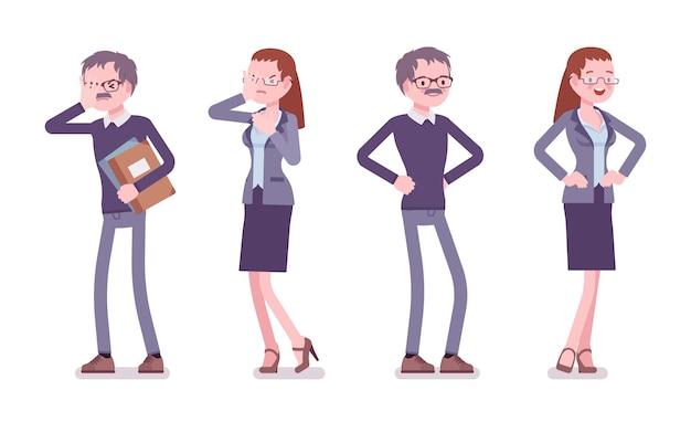 Professor masculino e feminino em emoções positivas e negativas