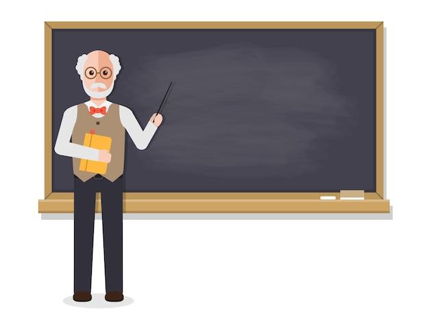 Professor sênior, ensinando em sala de aula.