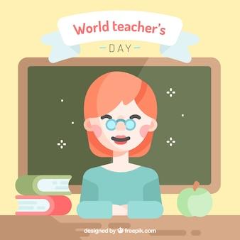 Professor sorridente, feliz dia do professor