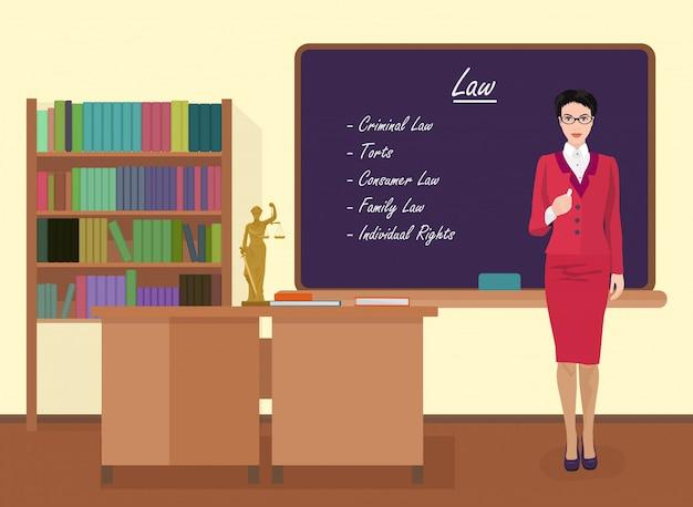 Professora de direito escolar