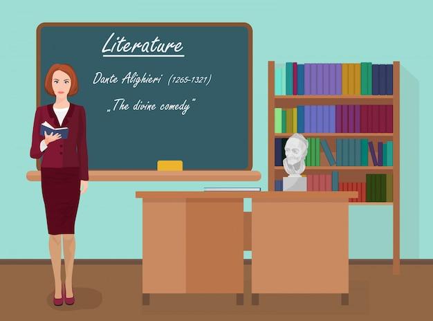 Professora de literatura escolar