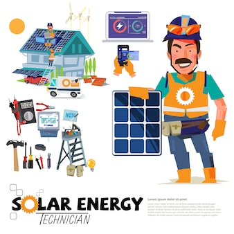 Profissão de engenharia solar
