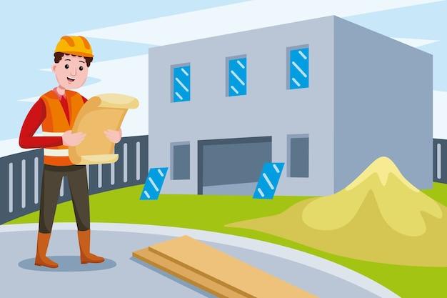 Profissão de engenheiro de construção