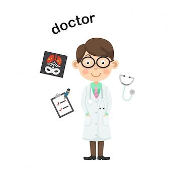 Profissão doctor.vector ilustração.