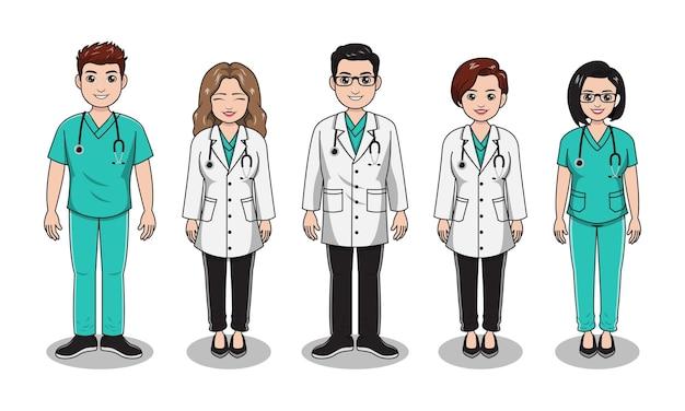 Profissão médico e enfermeiro