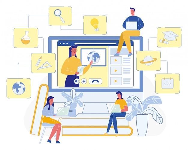 Profissional de professores online