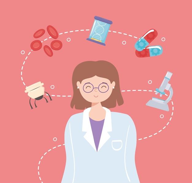 Profissional médico em nanotecnologia