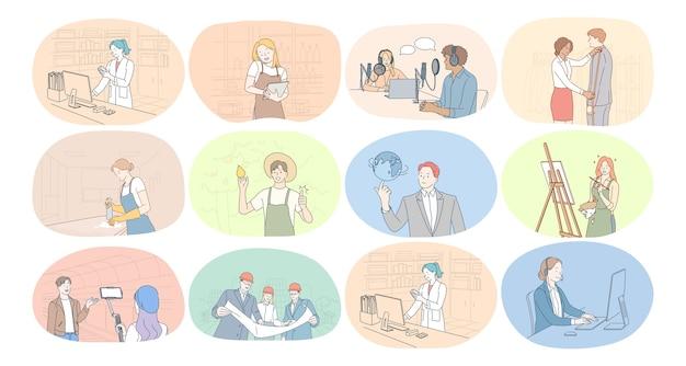Profissões, ocupação, trabalho, emprego, trabalho, conceito de negócio.