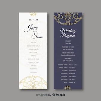 Programa de casamento