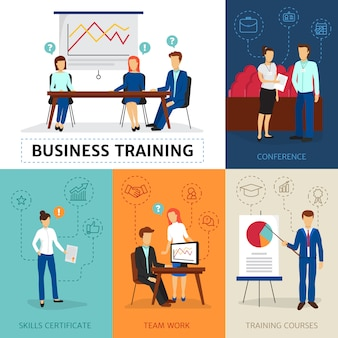 Programa de consultoria empresarial certificado com conferências e workshops de cursos de formação