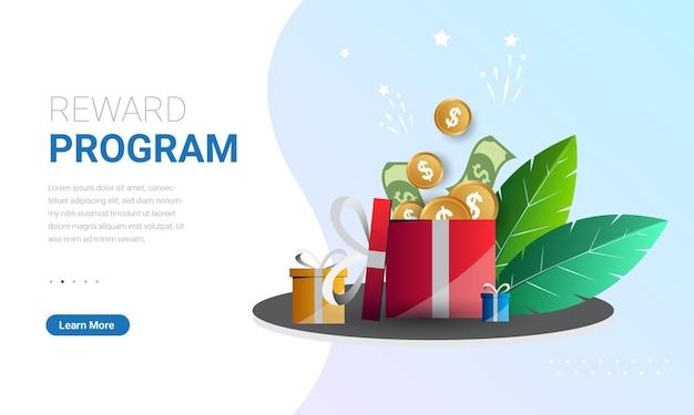 Programa de fidelidade e ganhe recompensas