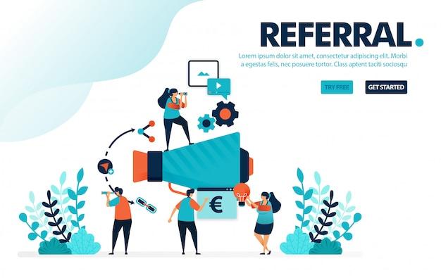 Programa de referência, participe de programas de referência para marketing e promoção.