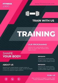 Programa de treinamento de design de folheto esportivo