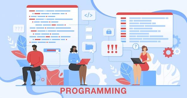 Programação de desenvolvimento de software para aplicativos técnicos