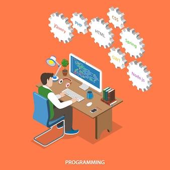 Programação e desenvolvimento de software.