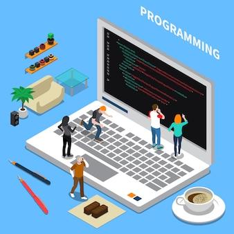 Programação isométrica em miniatura