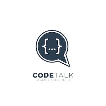 Programador de codificação chat logo inspiration