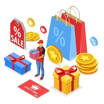 Programas de fidelidade do cliente como parte do marketing de retorno do cliente.