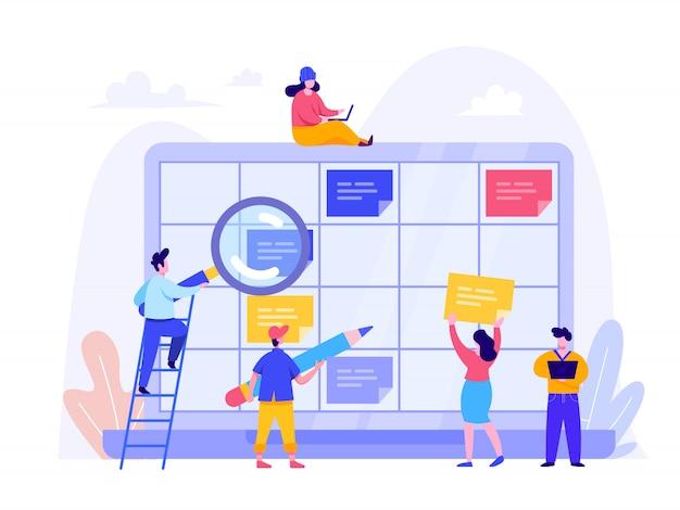 Programe o conceito de planejamento para página inicial, interface do usuário, web, página inicial