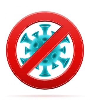 Proibição assinar bactérias pandêmicas do coronavírus da gripe covid-19