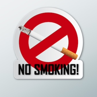 Proibido fumar.