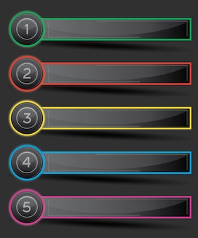 Projete infográfico com cinco opções.