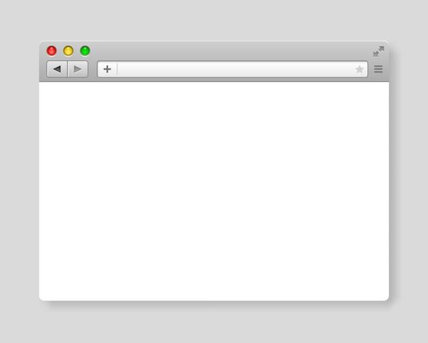 Projete o modelo de navegador de internet. pesquisa de frame do windows, página da web. ilustração vetorial.