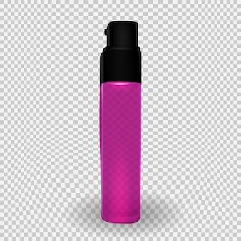 Projete o modelo de produto de cosméticos para anúncios ou fundo de revista. ilustração em vetor realista 3d