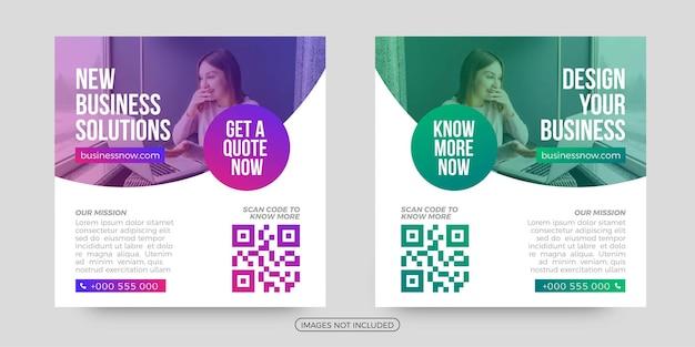 Projete seus modelos de postagem de mídia social de negócios