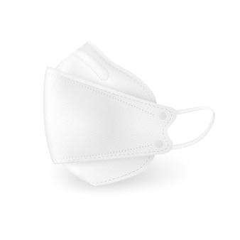 Projeto 3d de vista lateral de máscara médica