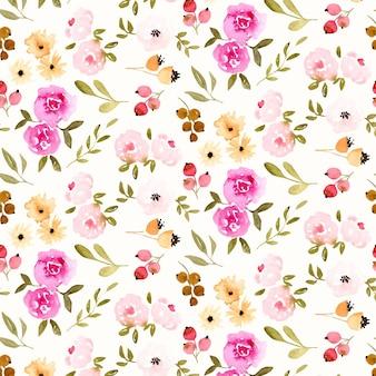 Projeto abstrato aquarela padrão floral