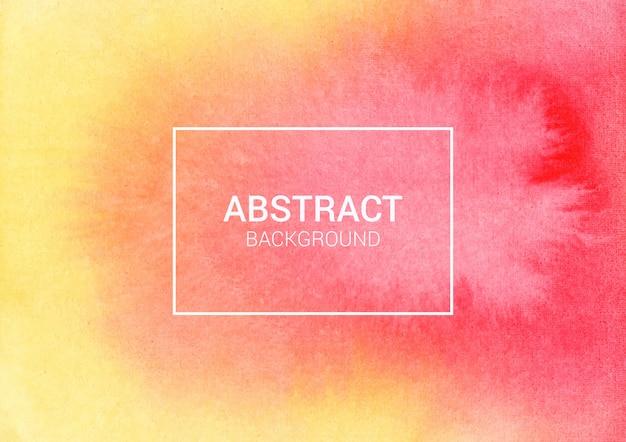Projeto abstrato aquarela vermelho e amarelo