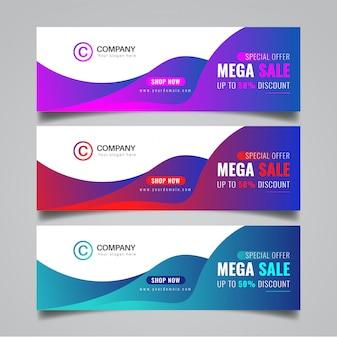 Projeto abstrato banner de vendas