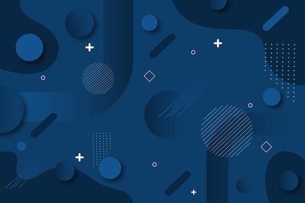 Projeto abstrato clássico azul
