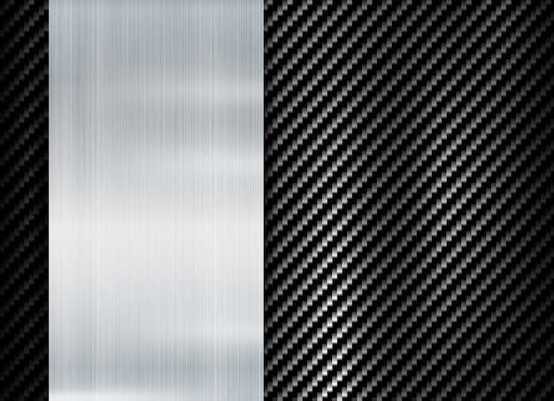 Projeto abstrato da textura do kevlar do carbono do quadro metálico