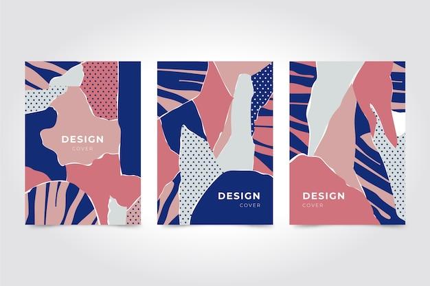 Projeto abstrato de coleção de capas