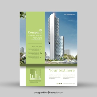 Projeto abstrato do folheto de negócios