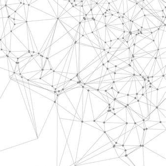 Projeto abstrato do fundo com pontos de conexão