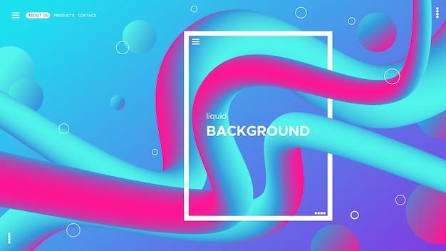 Projeto abstrato do fundo da cor. composição de formas de gradiente fluida. design líquido.