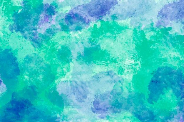 Projeto abstrato do fundo da textura da tinta azul e verde