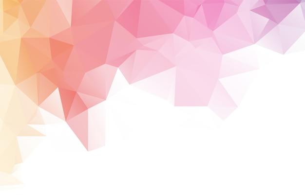 Projeto abstrato do fundo do polígono da cor