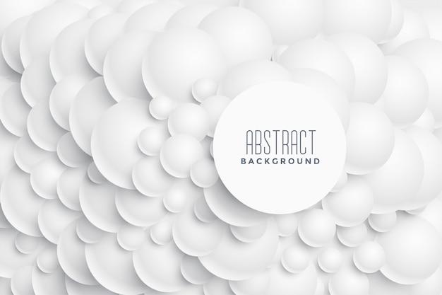 Projeto abstrato do fundo dos círculos 3d