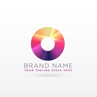 Projeto abstrato do logotipo da letra o ou do círculo