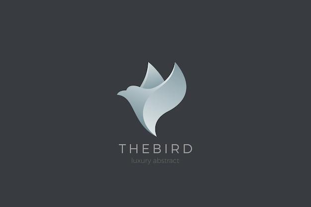 Projeto abstrato do logotipo do pássaro voador. logotipo da moda dove cosmetics spa